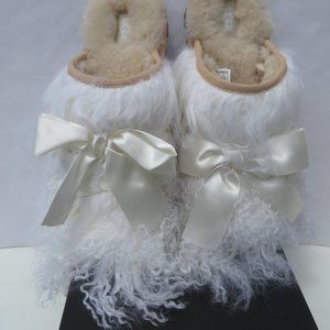 UGG Classic Coquette Mongolian Slippers 9 NEW